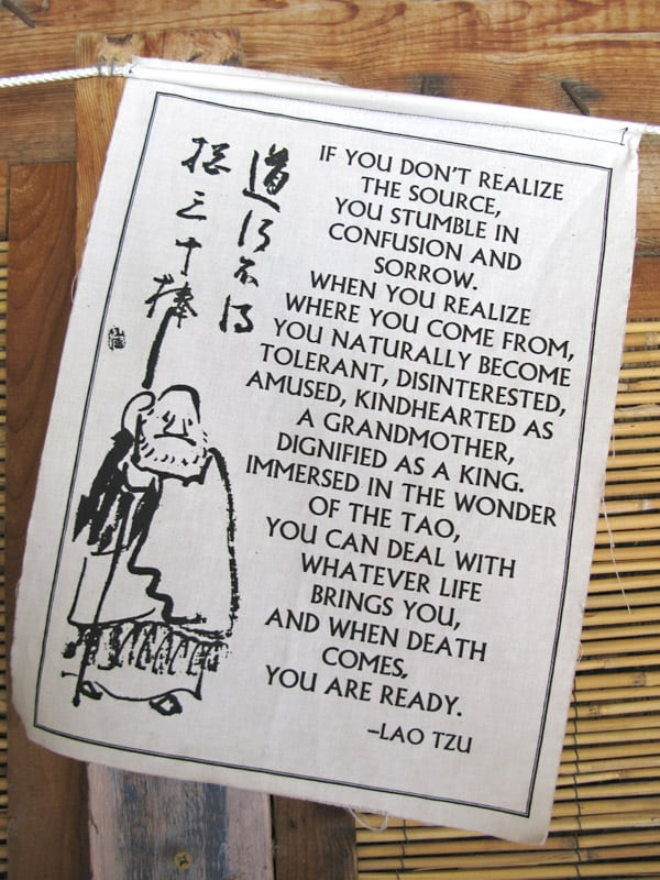 Lao Tzu Prayer Flag Teaches Tolerance