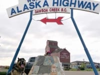 Wyatt makes it to Mile 0 on The Alaska Highway