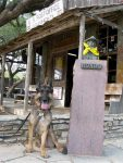 Wyat and Hondo in Luckenbach Texas