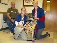 Wyatt vet visit Colorado State University Veterinary Teaching Hospital