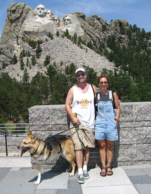 Jerry and his people at Mt. Rushmore