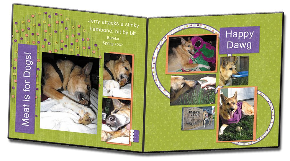 Personalized Digital Scrap Book Storybook Sample Layout Page 1