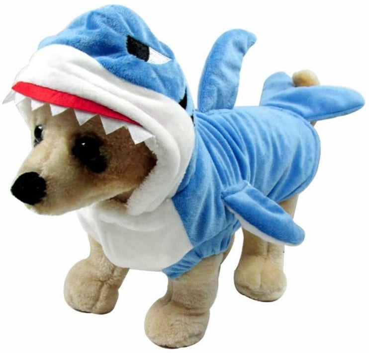 Tripod dog shark attack costume