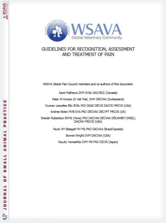 WSAVA Pain Management Guidelines