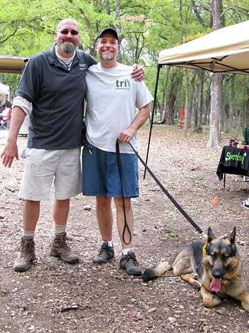 Luke Robinson Jim Nelson and Wyatt at San Antonio 2 Million Dogs Walk