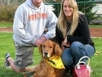 Canine Cancer Hero Lincoln and his pack