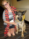 Wyat meets Dr. Patty Khuly at Blog Paws