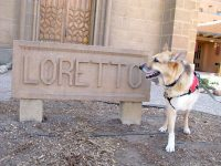 At Loretto Chapel in Santa Fe, home of the Miraculous Staircase