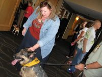 Wyatt meets pet bloggers at BlogPaws