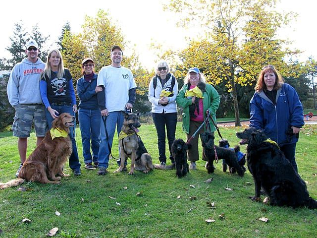 Tripawds members gather at Auburn, WA 2 Million Dogs Up Walk