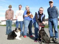 Six legged dog party with Lucy and Teddy in Eureka, CA.